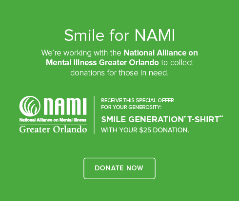 Oviedo Smiles Dentistry - We're working with National Alliance on Mental Illness to collect donations